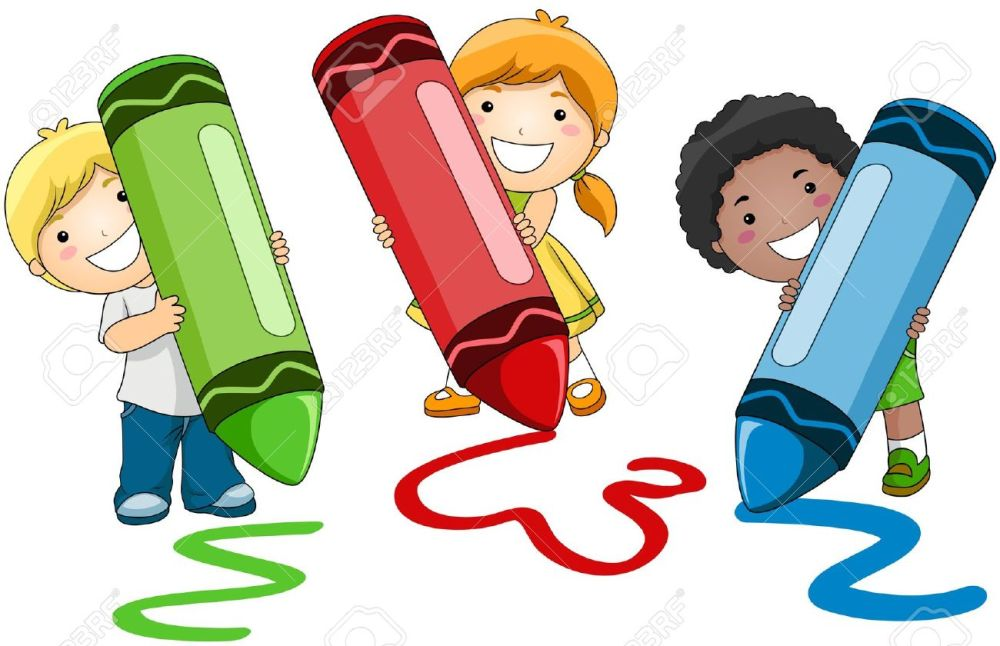 medium resolution of kids writing clipart 20792 children using crayons stock photo picture and royalty free image