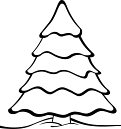 clip art christmas tree outline free clipart images [ 2400 x 2278 Pixel ]