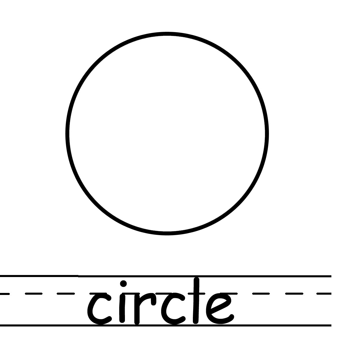Circle Outline Various Sizes To Print