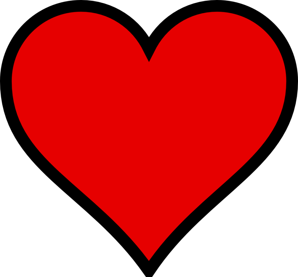 medium resolution of clip art heart black and white free clipart images