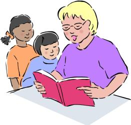 clipart reading student students clipartion