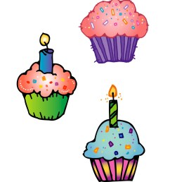 cute birthday cupcake clip art free clipart images [ 1275 x 1650 Pixel ]