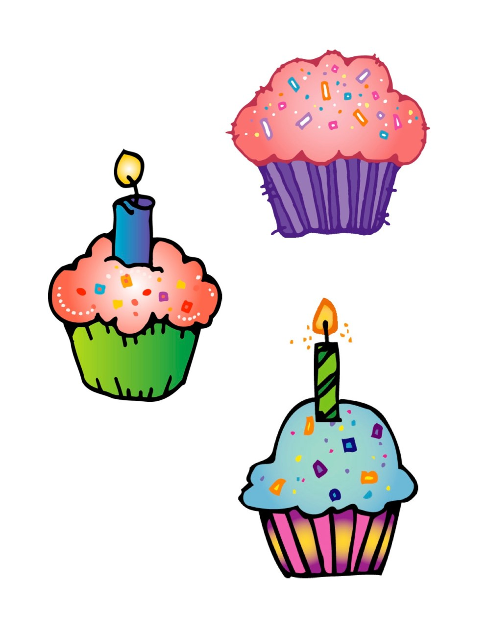 medium resolution of cute birthday cupcake clip art free clipart images