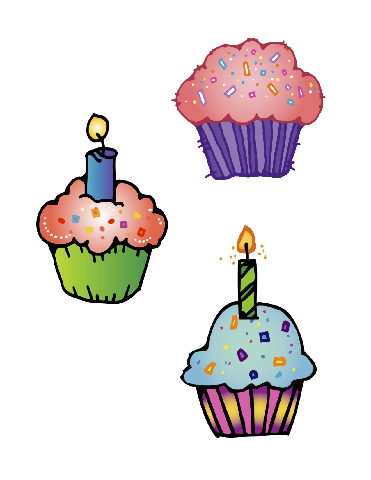 hight resolution of cute birthday cupcake clip art free clipart images