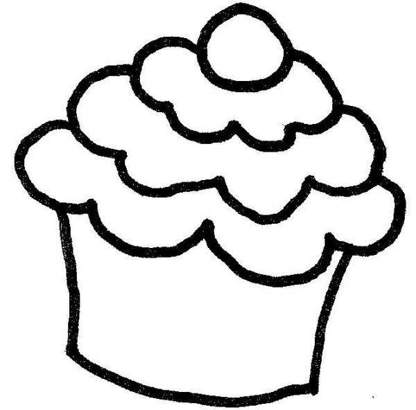 cupcake outline #8287