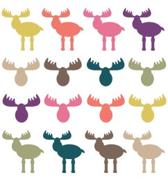 digital download discoveries for moose clip art from easypeach com [ 1500 x 1500 Pixel ]