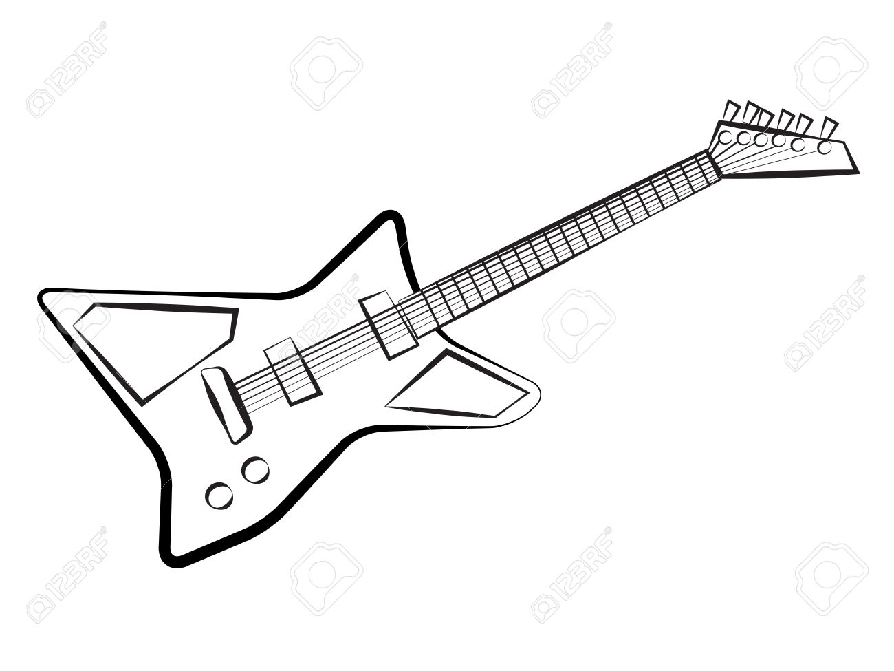 Electric Guitar Drawing Cake Ideas And Designs