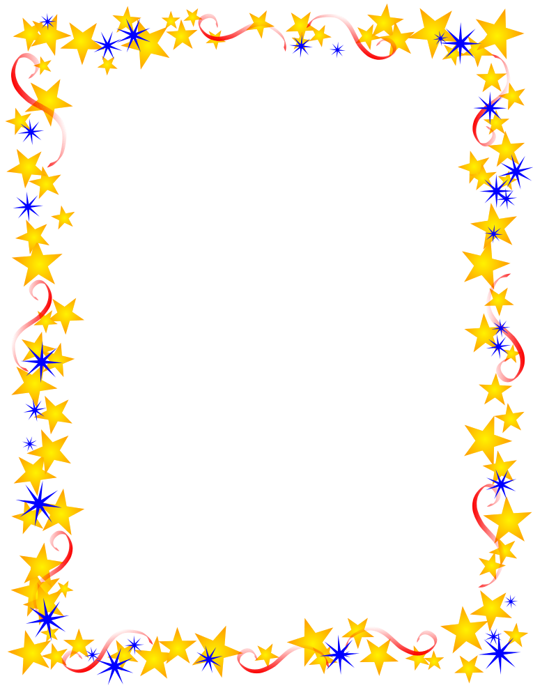 Party Borders And Black Gold Symbols