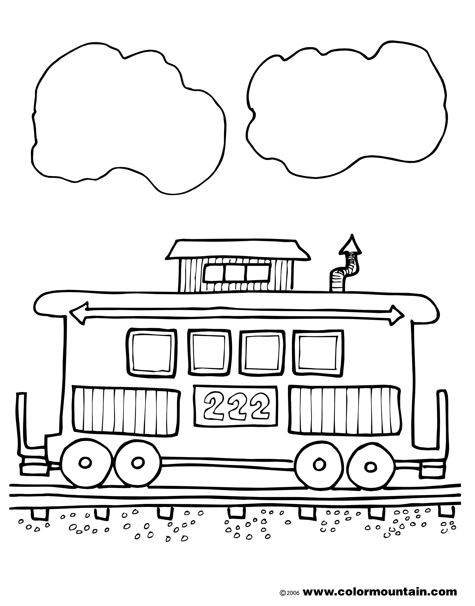 Best Caboose Clipart