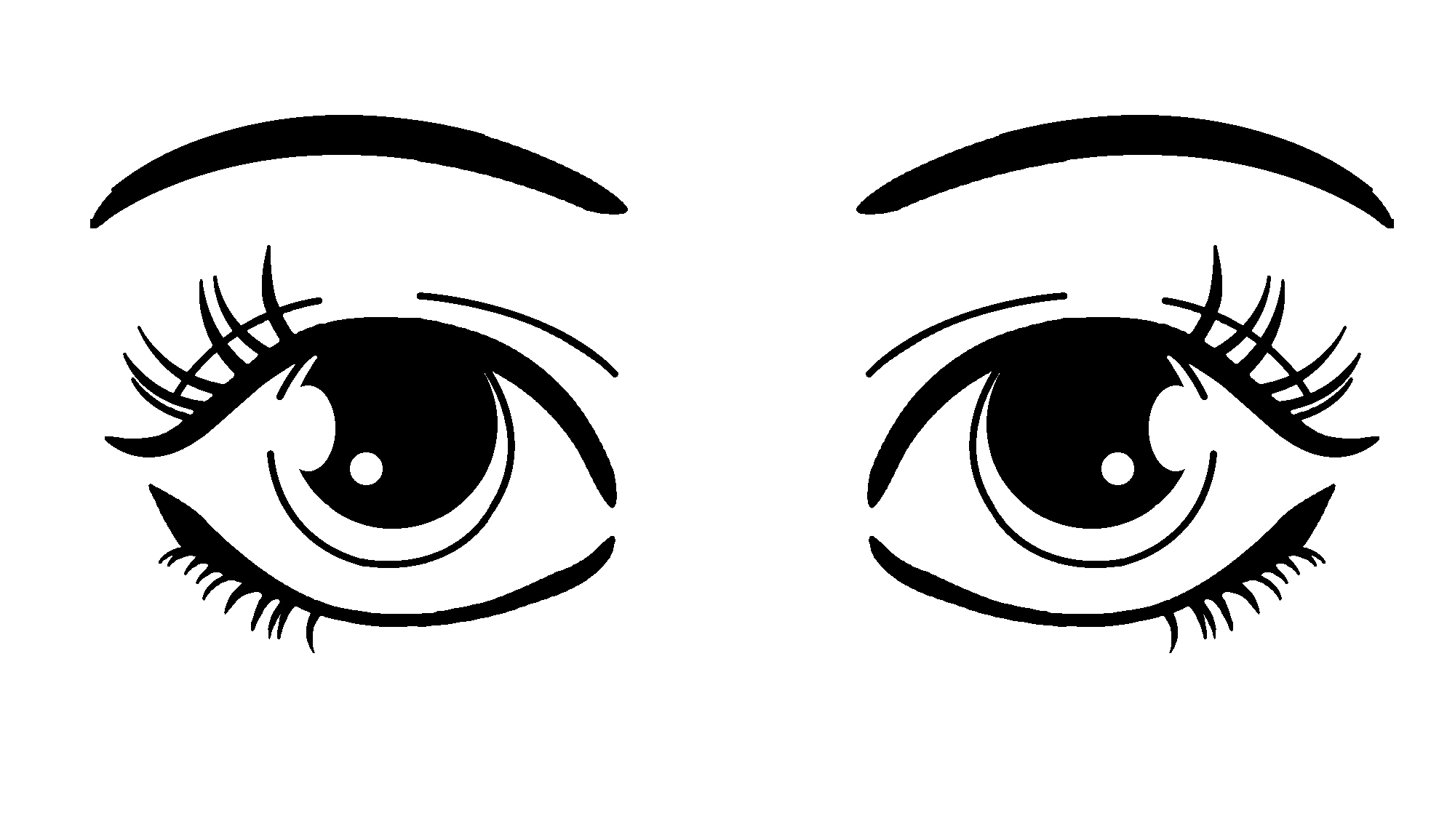 hight resolution of brown eyes clipart 18287