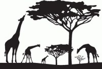 Giraffe Silhouette - Clipartion.com
