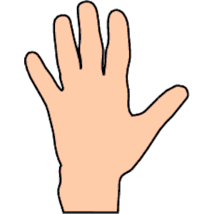 hand clipart #10658