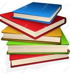 illustration pile of books isolated on white royalty free cliparts [ 1300 x 1300 Pixel ]