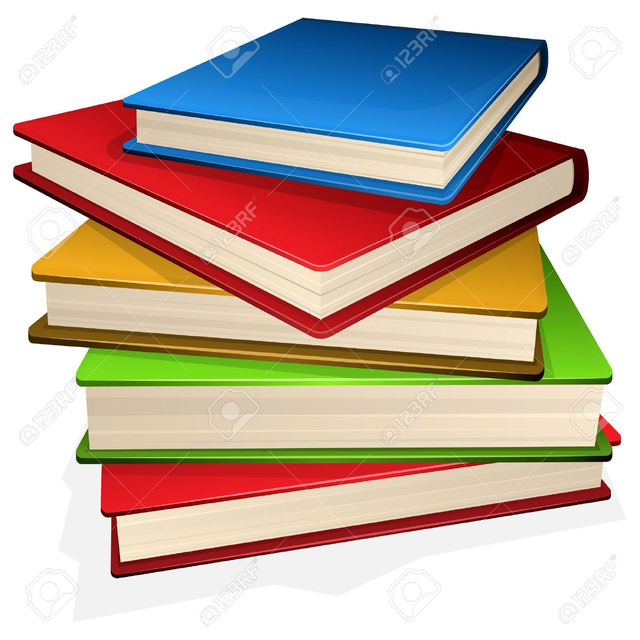 hight resolution of illustration pile of books isolated on white royalty free cliparts
