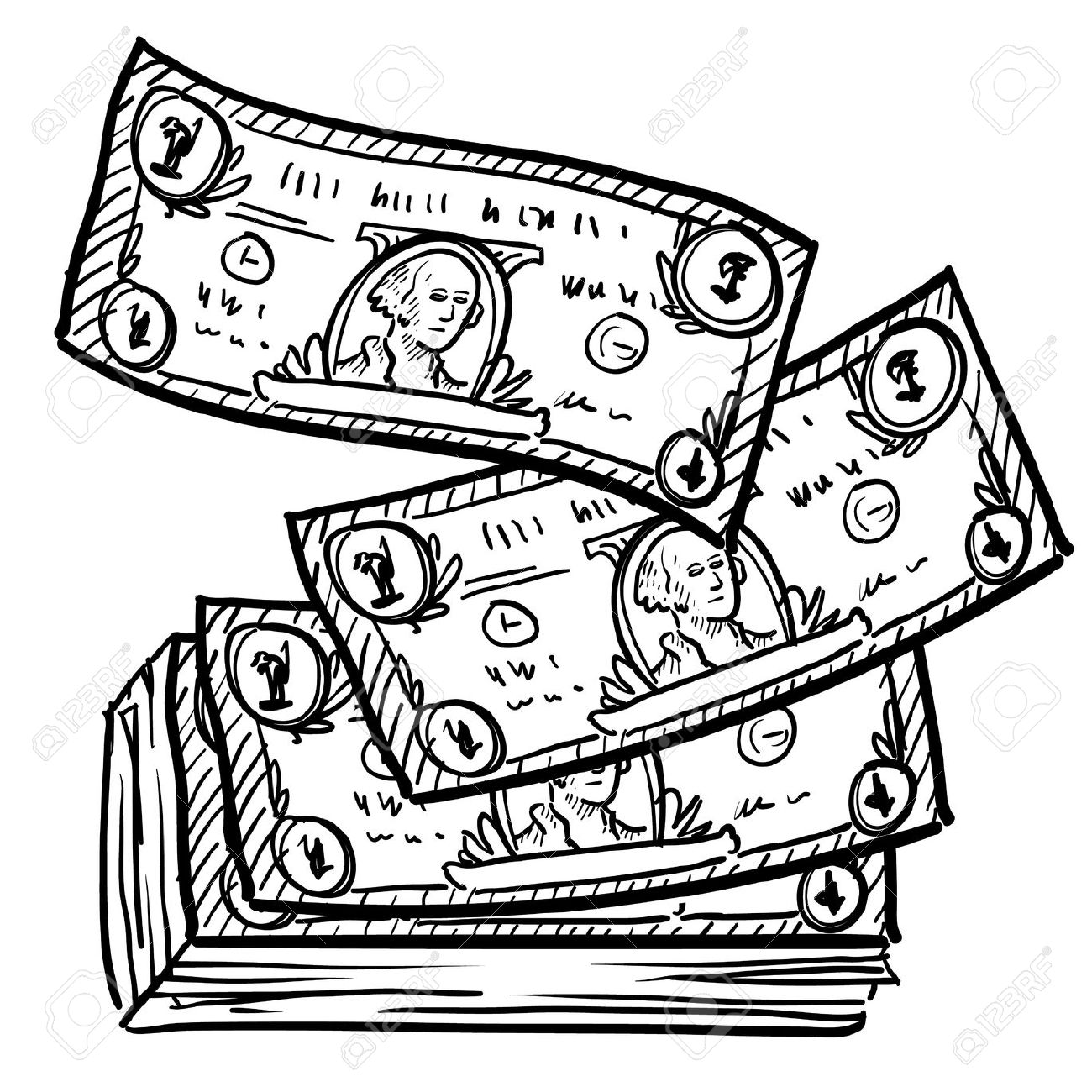 Best Money Clipart Black And White