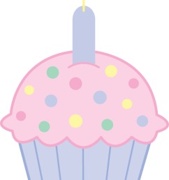 pink birthday cupcake clipart free clip art images [ 830 x 1215 Pixel ]