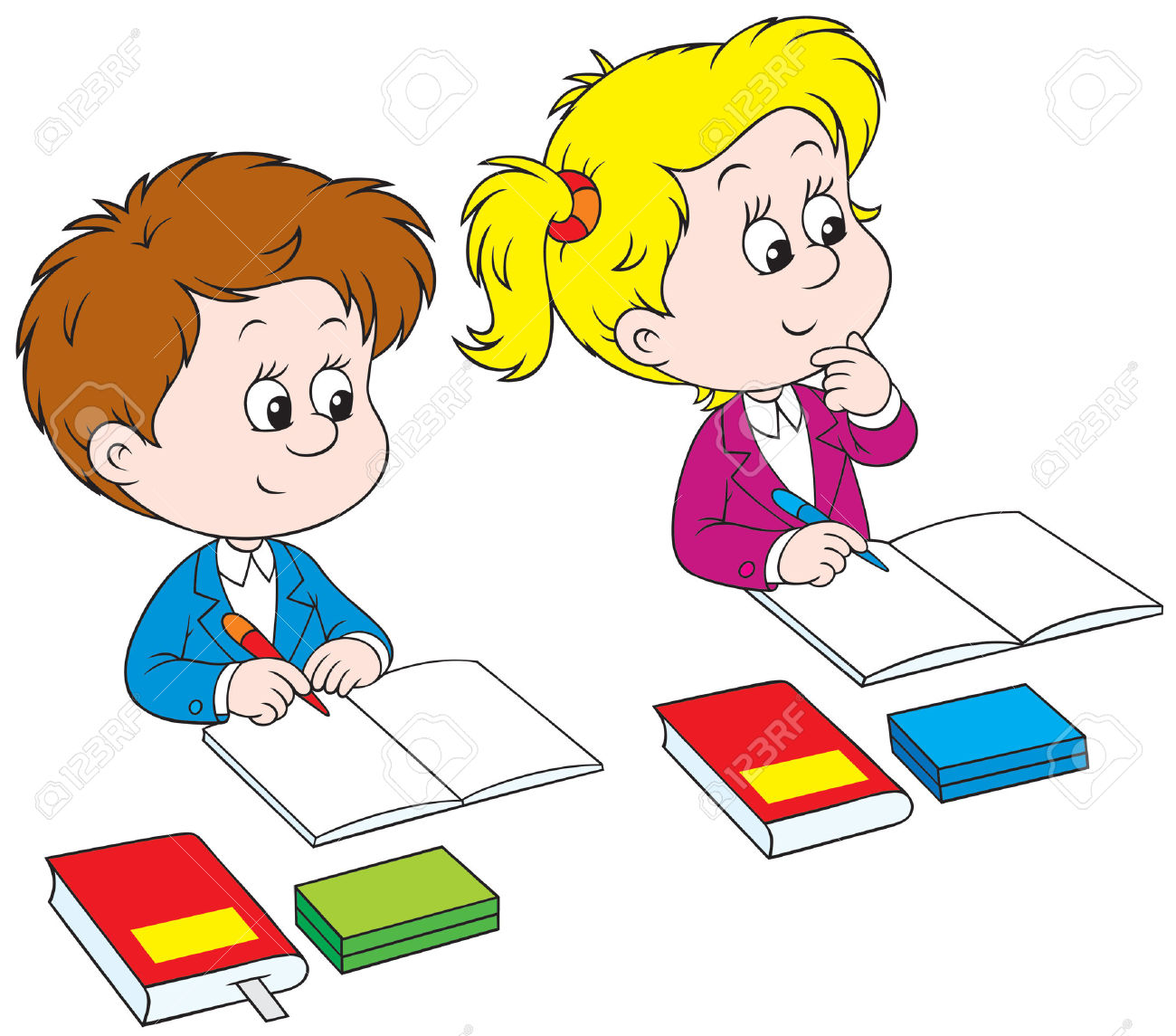hight resolution of kids writing clipart schoolchildren royalty free cliparts vectors and stock