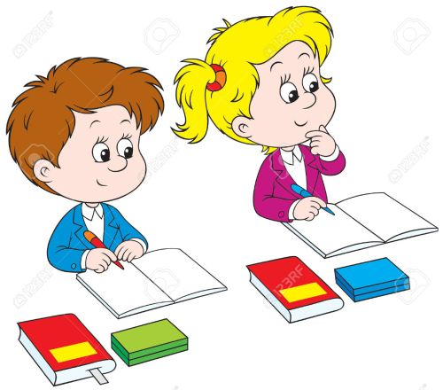 small resolution of kids writing clipart schoolchildren royalty free cliparts vectors and stock