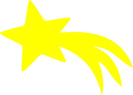 shooting star clipart #13052