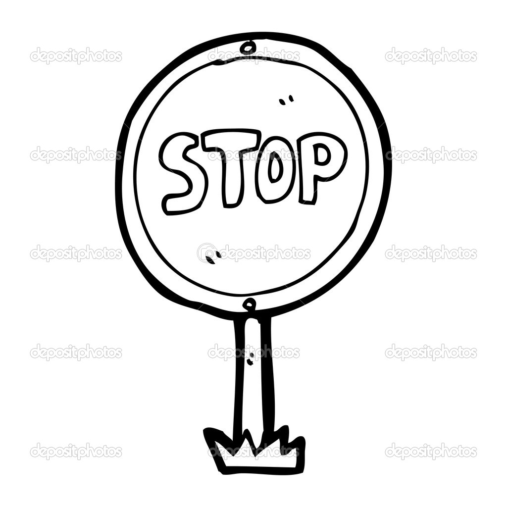 Best Stop Sign Black And White