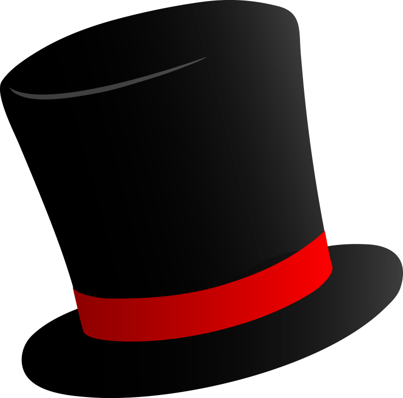 Best Top Hat Outline 14146