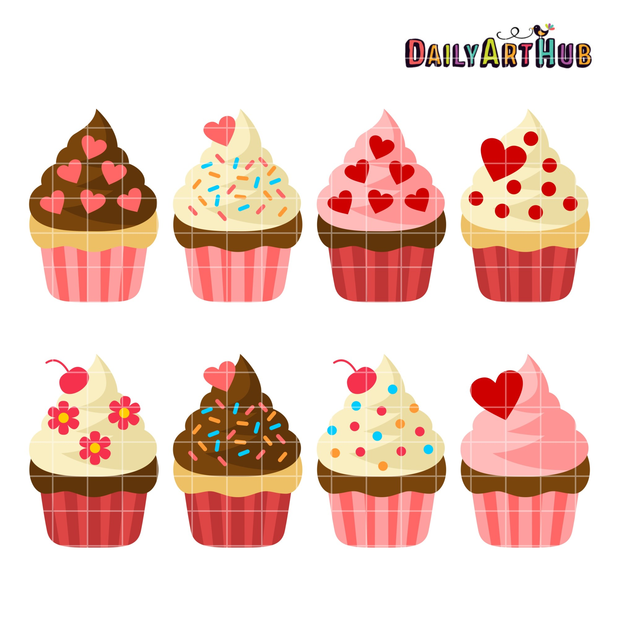 hight resolution of cupcake clipart free
