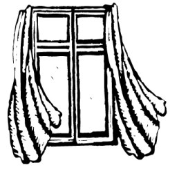 clipart window curtains clipartion