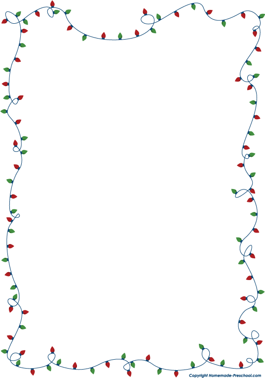 holiday border for microsoft word
