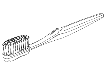 toothbrush clipart clip brush tooth cartoon outline cliparts line food vector library svg scalable clipartion cellular cognigen cliparting clipartist