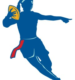 flag football clipart black and white free [ 1500 x 1834 Pixel ]