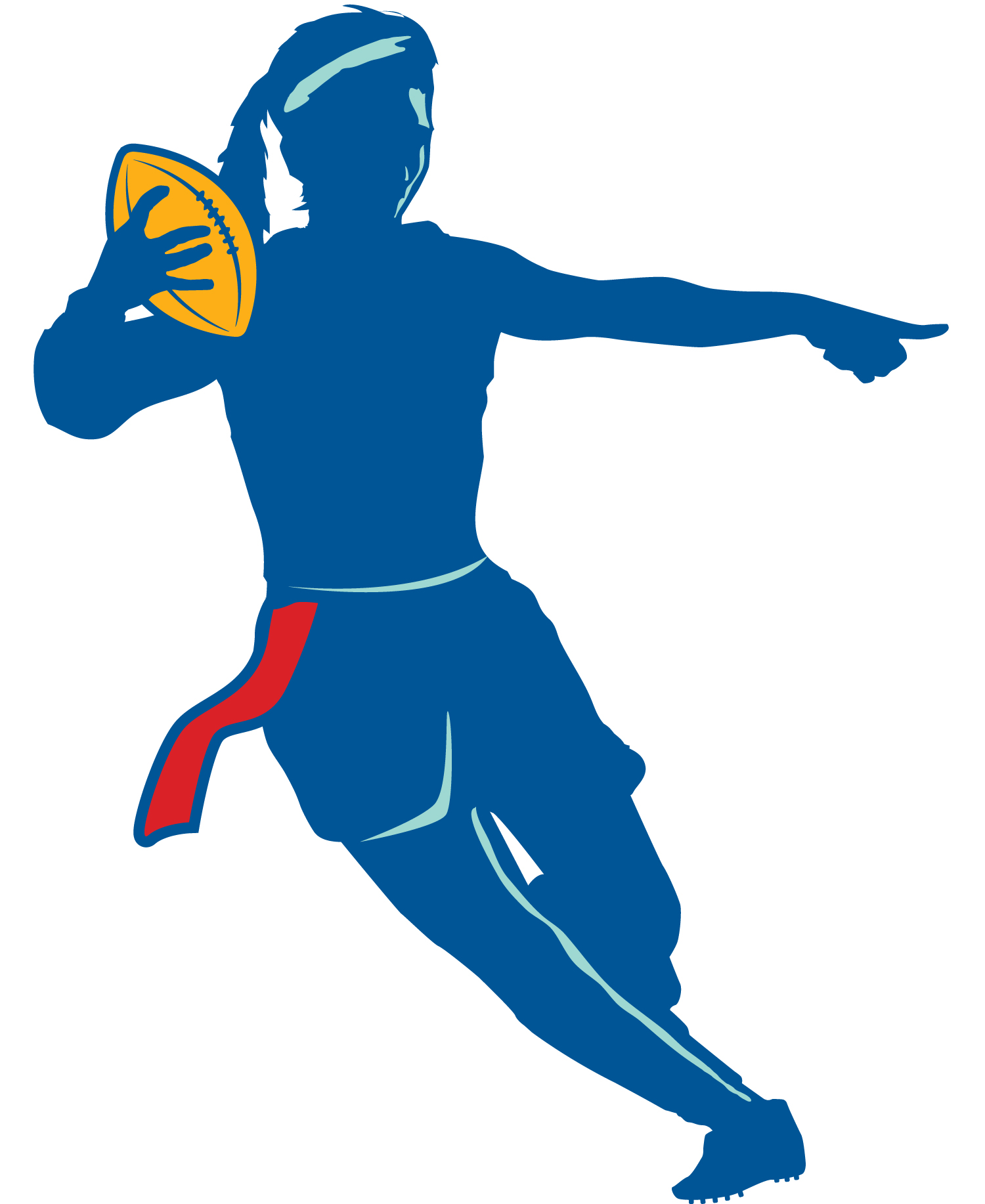 hight resolution of flag football clipart black and white free