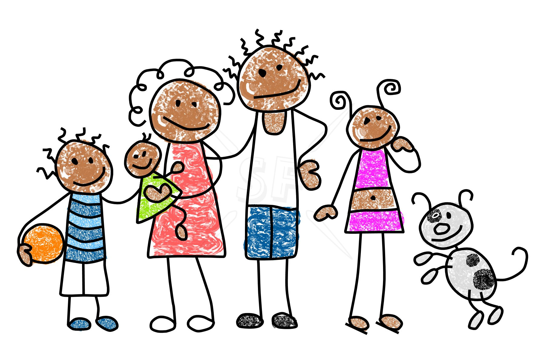 hight resolution of black family clipart 23685