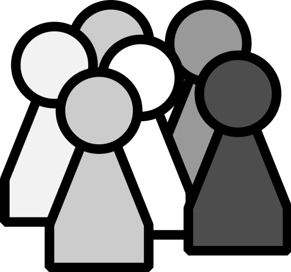 group of people clipart #23263