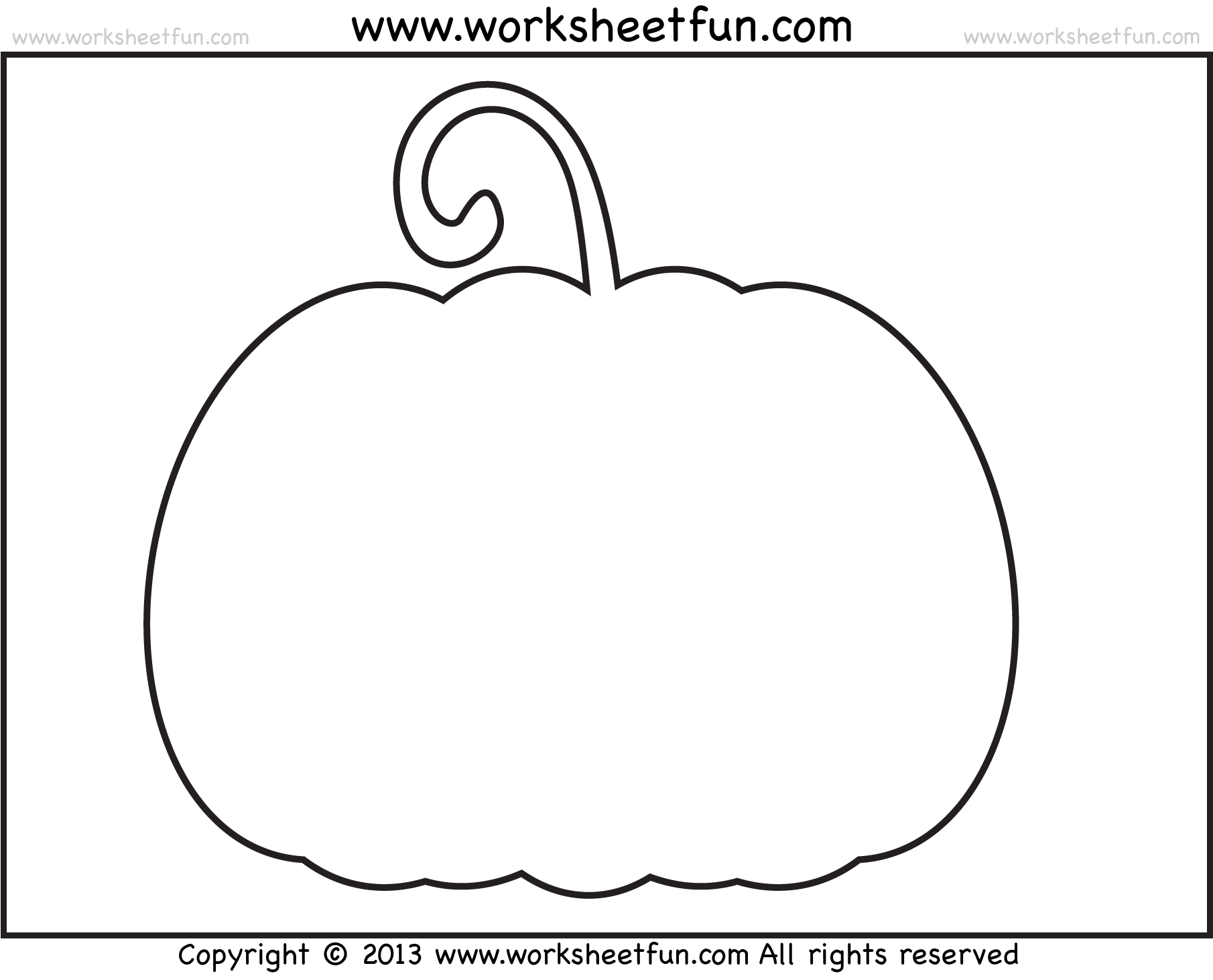 Best Pumpkin Outline Printable