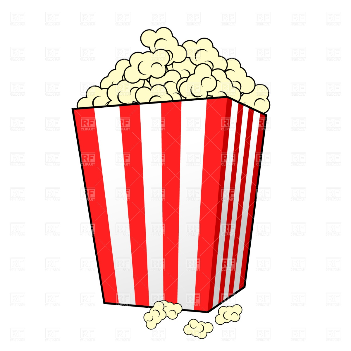 hight resolution of popcorn kernel clipart free