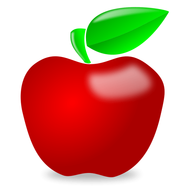teacher apple clipart #27450