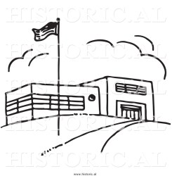 Best School Clipart Black and White #28832 Clipartion com