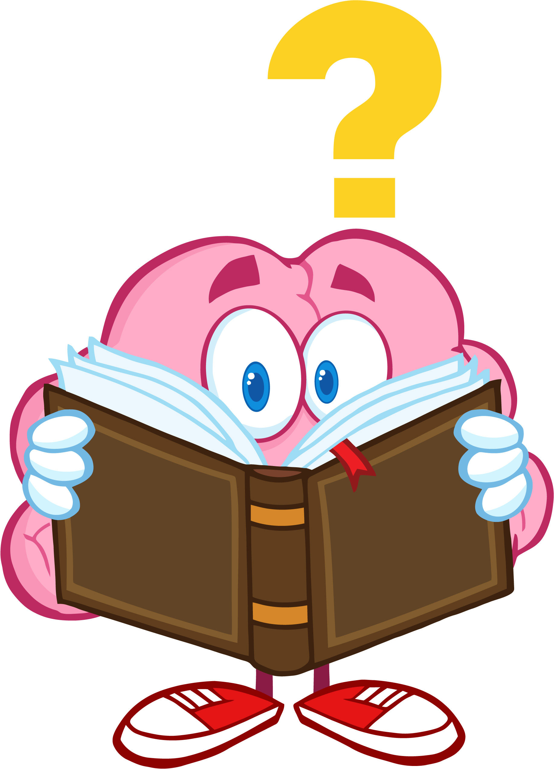 hight resolution of learning brain clipart