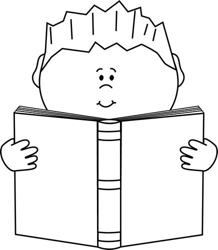 Best School Book Clipart Black and White #28695