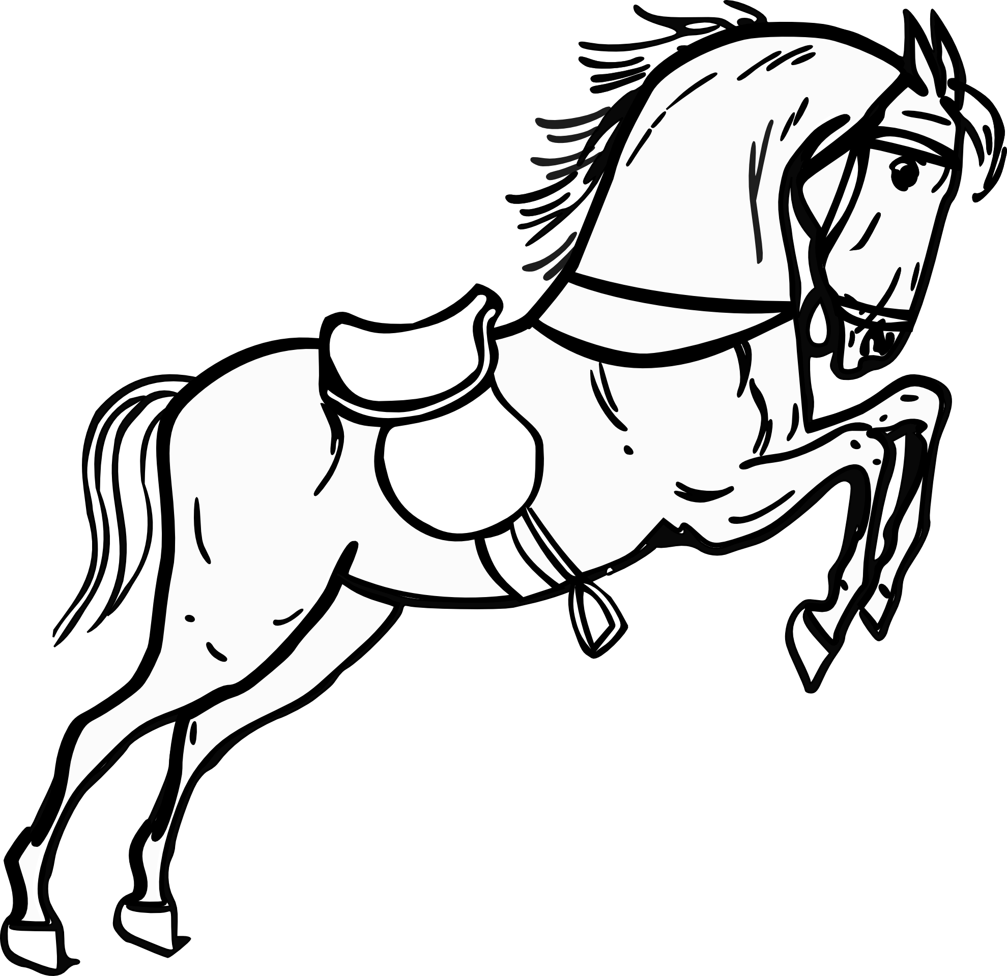 Best Horse Clipart Black And White