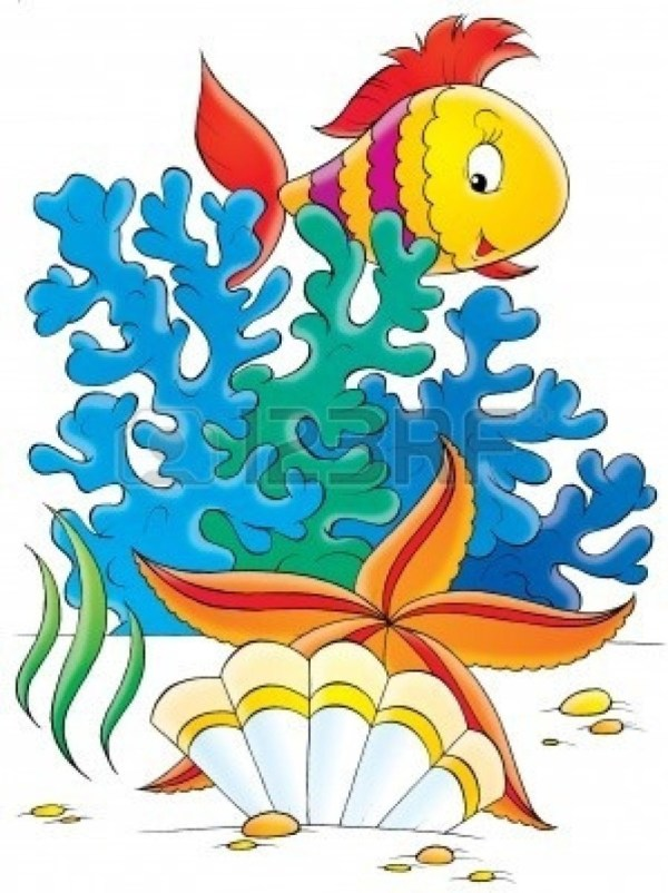 Colorful School Of Fish Clipart