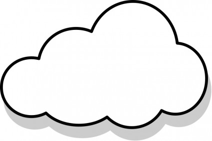 white cloud clipart #29435