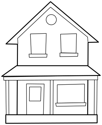 best house clipart coloring