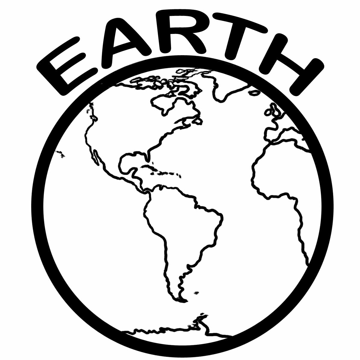 Globe Earth Clipart Black And White Free Clipart Images 4