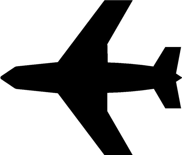 airplane clipart black and white
