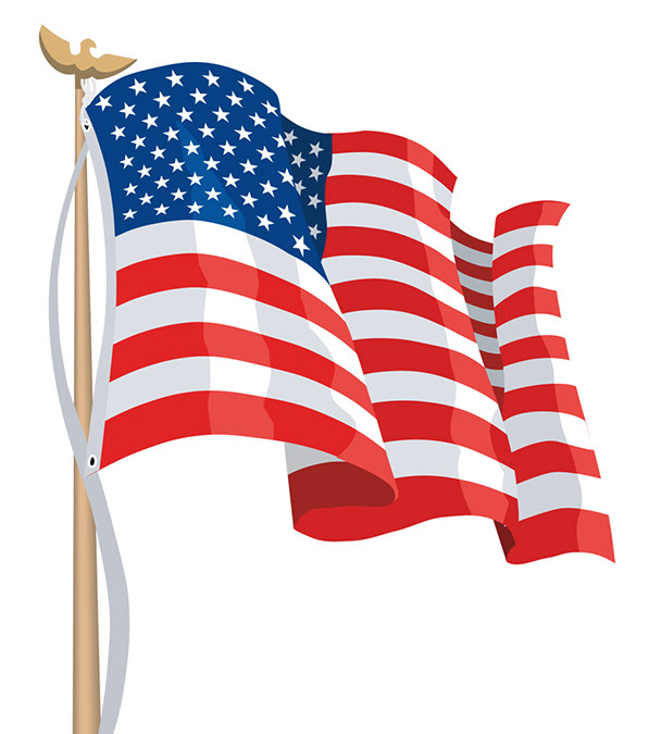 free american flag clipart