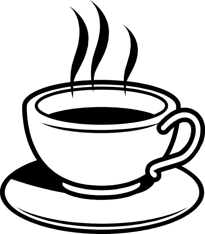 Image result for coffee cup clip art black and white