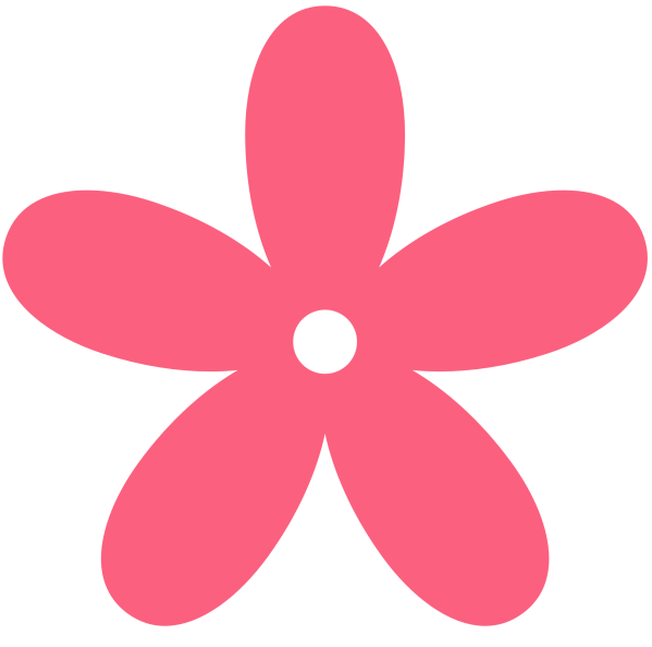 flowers hot pink flower clipart