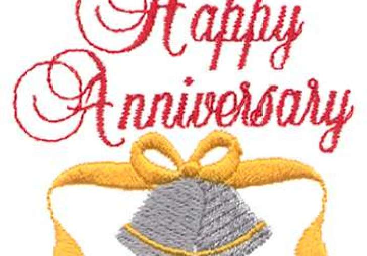 Happy Wedding Anniversary Clip Art