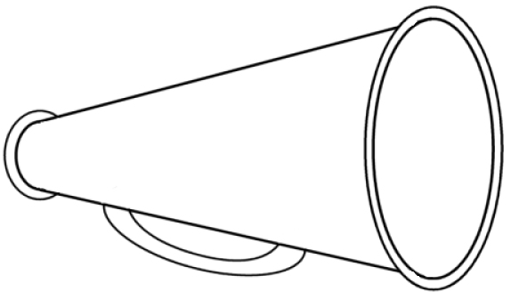 Cheer Megaphone Coloring Page Coloring Pages